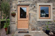 Beeston composite stable door in Golden Oak