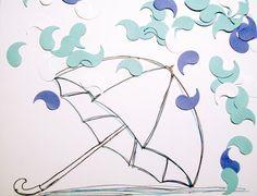 Rain Drop Confetti  Paper Rain Drops  Paint by SilverCloudDelights, $2.00