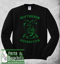 This awesome Quidditch sweater to remind everyone where your loyalties lie. | Community Post: 25 Bewitching Gifts All Slytherins Need In Their Lives