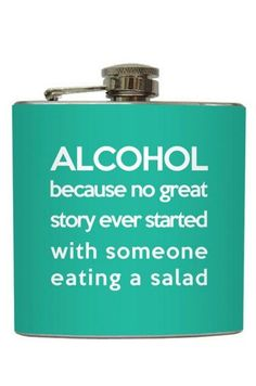 Alcohol Quote Flask ♥ So True LOL #love #want