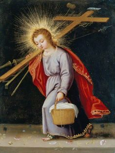 Child Christ on his way to the Crucifixion, or maybe a picnic