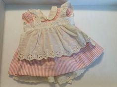 Vintage Chatty Cathy Original Pink Peppermint Stick Dress .. Excellent Cond #Mattel #ClothingAccessories