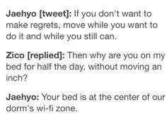 I would love to be on Zico's bed, especially if that's the best spot for wifi lol
