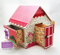 Crafter's Companion USA Information Blog : Make a Garden Shed Gift box! #crafterscompanion #tutorial