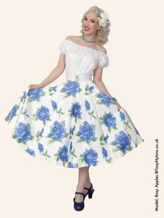 Circle Skirt Victory Rose Royal