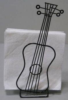 Acoustic guitar wire-frame napkin holder 70's