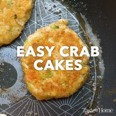 Easy Crab Cakes Ready-to-go crabmeat makes these delicate patties easier than other crab cake recipes. You can also form the crab mixture into four thick patties instead of eight crab cakes. Crab Cake Recipes, Fish Recipes, Seafood Recipes, Keto Recipes, Cooking Recipes, Seafood Appetizers, Crab Cakes Recipe Best, Steak Recipes, Cooking Tips