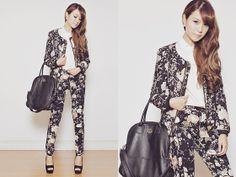 #blouse #jacket #pants Indressme Blouse, Sheinside Jacket, Sheinside Pants, Cmg Wedges, Egoist Bag