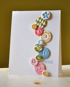 Simple and adorable button card!
