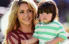 Shakira with her son Milan ~ billboard