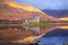 Kilchurn castle on the banks of Loch Awe, Scotland.