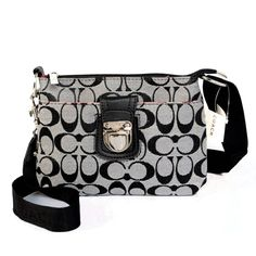 #CoachOutletStore Coach Lock In Signature Small Grey Crossbody Bags CFD Is So Attractive And Popular That More People Like It!