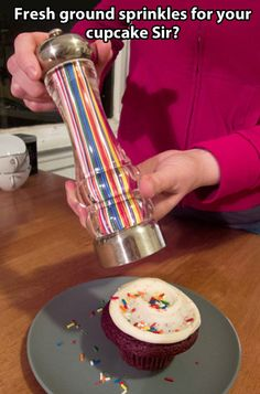 Funny pictures about Fresh ground sprinkles. Oh, and cool pics about Fresh ground sprinkles. Also, Fresh ground sprinkles. Sprinkle Cookies, Take My Money, Cool Inventions, Party Desserts, Gourmet Desserts, Plated Desserts, Dessert Recipes, Cool Stuff, Funny Stuff