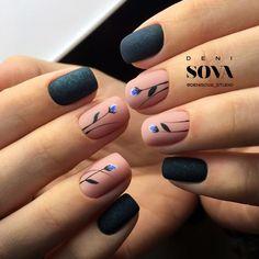 Diy Nails, Cute Nails, Pretty Nails, Colorful Nail Designs, Nail Art Designs, Dimond Nails, Grey Matte Nails, Dream Nails, Gel Nail Art