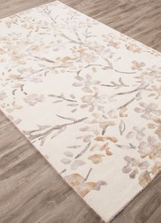Wool and Viscose Material carpet in Ivory,White color