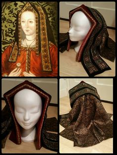 Gable Hoods.... This one is of the period late 1400's - early 1500's.