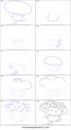How to Draw Vileplume from Pokemon printable step by step drawing sheet : DrawingTutorials101.com