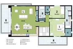 living dining kitchen small | ... : Small Ultra Modern House Plans Open Kitchen Living Dining Space