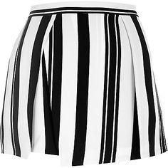 Black stripe wrap front skort £28 #riverisland