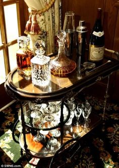"""Check out our internet site for even more relevant information on """"bar cart decor"""". It is an excellent area to learn more. Diy Bar Cart, Gold Bar Cart, Bar Cart Styling, Bar Cart Decor, Bar Carts, Bar Antique, Bandeja Bar, Outside Bars, Metal Tree Wall Art"""
