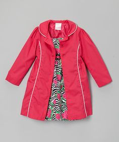This pretty pair takes the work out of finding a matching outfit, so little ladies can focus on important business like twirling, skipping and smiling—activities made even easier thanks to the frock's babydoll fit and comfy cotton fabric. The matching jacket shows off a dainty Peter Pan collar and contrast piping for a classically darling look.