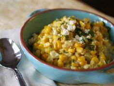 Mexican Lime-Cream Corn  #mexican #side dish
