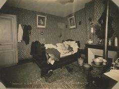 This startling image portrays the body of Julia Guillemot, at her home in Paris in 1903