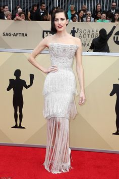 What an arrival:Allison Williams was the talk of the 24th Annual Screen Actors Guild Awards at The Shrine Auditorium in Los Angeles on Sunday evening
