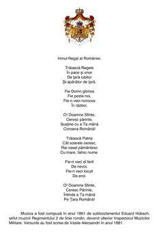 Imnul Regal al României Romanian Royal Family, Edinburgh, Amen, Words, Descendants, Country, Shirt, Historia, Shelf