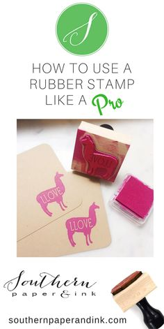 These rubber stamp tips are guaranteed to give you a good impression. DIY your own wedding favors, invites, gift tags and more. Learn the best ways to stamp at Southern Paper and Ink.