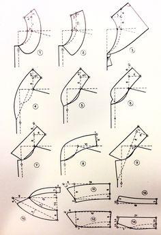 The Princess (Seam) Diaries: Turn Bodice Darts Into Princess Seams Sewing Sleeves, Sewing Pants, Techniques Couture, Sewing Techniques, Sewing Tutorials, Sewing Projects, Sewing Tips, Clothing Patterns, Sewing Patterns