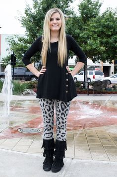 Snow Leopard Print Knit Leggings - Forever Fab Boutique Fall Fashion Outfit Ideas Women's Clothing Forever Fab Boutique #shop #fashion