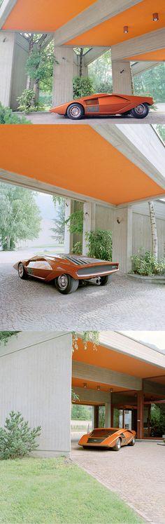 Benedict Redgrove - 1970 Lancia Stratos Zero / Bertone - Marcello Gandini / Italy UK / orange / concept