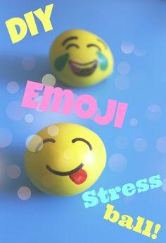 how to make an emoji stress ball