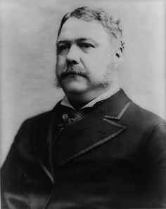 Chester A Arthur, Twenty-First President of the United States  Born 1829 - Died 1886 - Served 1881 - 1885