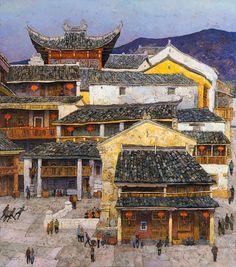 Denis Sarazhin Memories of China. oil on canvas,