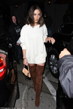 All dressed down: Former Miss Universe Olivia Culpo hit West Hollywood restaurant Craig's on Wednesday evening