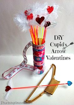 Cupid's Arrow Valentines | @PluckingDaisy #ValentinesDay #KidsCraft