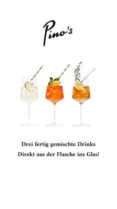 Hochwertige fertiggemischte Aperitifs - made in Austria! Wine Glass, Tableware, Flasks, Italy, Dinnerware, Dishes