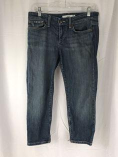 Joe's Jeans Chelsea Zip Capri Skinny Crop Zipper Hem Clayton Jeans - 28 USA Made #JoesJeans #CapriCropped