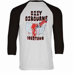 Ozzy Baseball Tee Back