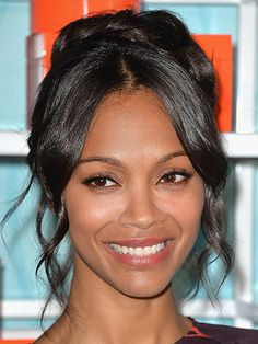 15 Completely Chic Ways to Style Fine Hair These cuts and updos will make your hair look incredible. By Jennifer Conrad - Zoe Saldana