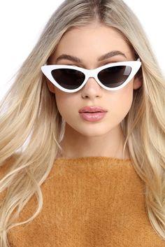White Extreme Cat Eye Orange Lens Sunglasses Pretty Little Thing Nicekicks For Sale WOOPcPmLRU