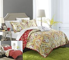 Chic Home Paisley Global Inspired Vedara 8 Piece Reversible Quilt Set Size: King, Color: Gold Gold Pillows, Couch Pillows, Pottery Barn, Paisley Bedding, Gold Bedding, Ikea, Shabby, Bed In A Bag, Quilt Sets