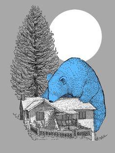 Bear illustration by Mat Pringle Bear Illustration, Graphic Design Illustration, Graphic Art, Spirit Bear, We Bear, Bear Art, The Draw, Illustrations Posters, Drawings