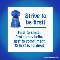 Strive to Be First