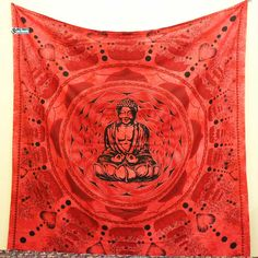 Red Buddha Tapestry wall hangings or beach tapestry can be used in Beach and picnics. Trippy Tapestry, Dorm Tapestry, Tapestry Bedroom, Bohemian Tapestry, Mandala Tapestry, Cheap Home Decor Stores, Cheap Room Decor, Home Decor Websites, Diy Bedroom Decor
