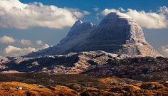 Suliven, Sutherland. Supposed home of an ancient Celtic God and some locals claim sheep will not graze on the slopes!