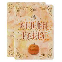 Autumn Theme Party Invitation