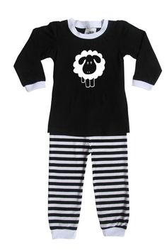 Sheep Silhouette Baby and Toddler Pajama Set by RocketBug on Etsy https://www.etsy.com/listing/255504760/sheep-silhouette-baby-and-toddler-pajama